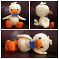 ducky William, made from the free pattern kindly provided by amigurumibb!