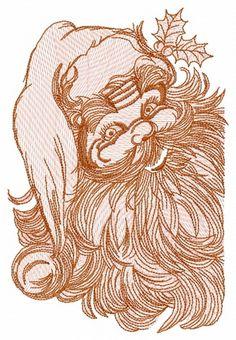Santa Claus 4 machine embroidery design. Machine embroidery design. www.embroideres.com Christmas Embroidery, Pattern Ideas, New Hobbies, Winter Holidays, Machine Embroidery Designs, Quilt Patterns, Quilting, Santa, Projects
