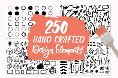 250 Hand Crafted Design Elements  @creativework247