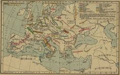 How a migrant crisis led to the fall of the Roman Empire. On this map, showing German migrations from 150 to 1066, shows the movements of the Goths.