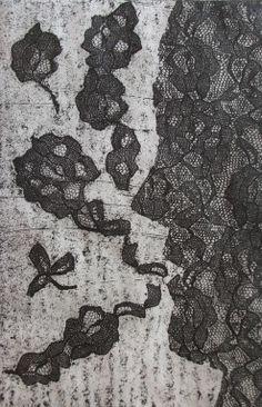 Autor: Ana Arista, técnica: grabado, barniz blando.