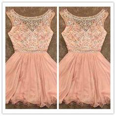 Blush Pink Homecoming Dress/Homecoming Dresses/Blush Pink Sweet 16 Dress #H029