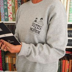Votes for Women Sweatshirt - Feminist Sweater - The Suffragettes - Girl Power Tee Shirts - Slogan Sweatshirt- Feminism - Oversized Jumper Winter Outfits, Casual Outfits, Winter Clothes, Feminist Shirt, Oversized Jumper, Suffragette, Tee Shirts, Tees, Feminism