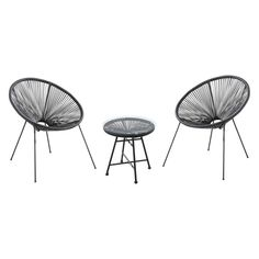 Velago Acapulco Steel 3 Piece Patio Bistro Set | Hayneedle