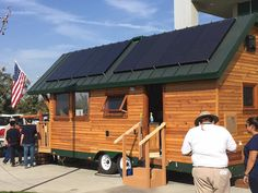 A 289 sq ft tiny house, designed and built by students at the College of the Sequoias