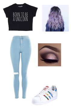 """"" by miranda-isabelle on Polyvore featuring Topshop and adidas"