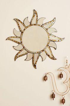 Gold Sun Mosaic Mirror