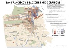 San Francisco's Deadzones and Corridors / mapping commercial strips