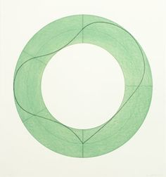 """Robert Mangold (B 1937) is an American minimalist artist. His paintings, quiet and restrained on the surface, are much admired by artists. In a 1994 review in Art in America, Robert Kushner wrote that """"underneath the composure of their execution, there is an almost romantic vividness of experience. The contrast of this veiled undercurrent and the Apollonian restraint of the presentation make these new paintings both powerful and poignant."""" He had his first solo show at the Guggenheim Museum."""