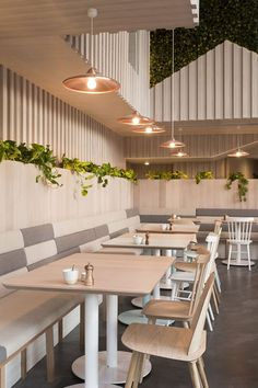 Kitty Burns 'Best Cafe' – Restaurant and Bar Design Awards Winner 2016 Cafe Shop Design, Restaurant Interior Design, Shop Interior Design, Commercial Interior Design, Design Café, Roof Design, Design Ideas, Cafe Restaurant, Cafe Bar