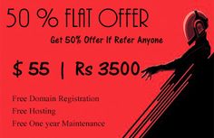 50 % Flat offer : Get 50 % offer if refer anyone ... Rs 3500 / only Build your Business via website Hurry up ! Don't miss it …. Share with your friends and keep moving us ..  Thanks in advance .. www.yulanto.com  Contact Num : 09962157250 Regards ,  Yulanto Team