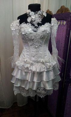 Vestido de noiva caipira,confeccionei especialmente para uma cliente.