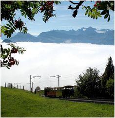 Vitznau-Rigi train, Swiss alps