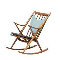 "rocking chair scandinave vintage années 50 ""Gyngestol"""