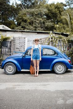 overalls and a VW bu
