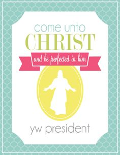 All Things Bright and Beautiful: Young Women Presidency binder folders for 2014