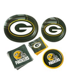 Love this Green Bay Packers  Game Day Plate Set by Creative Converting on #zulily! #zulilyfinds