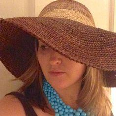 {Anthropologie} Wide Brim Raffia Sun Hat