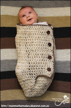 Mamma That Makes: Snuggle Cuddle Cocoon Resized - Free Newborn Crochet Pattern