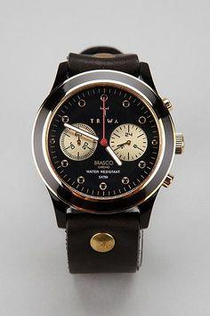 black faced watch