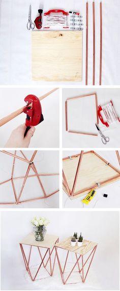 Selber machen: Beistelltisch aus Kupfer Selber Bauen- Komplette DIY Anleitung