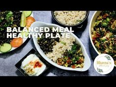 Food Groups, Group Meals, Diabetic Recipes, Gluten Free Recipes, Portion Plate, Healthy Eating Plate, Gujarati Cuisine, Electric Cooker, Balanced Meals