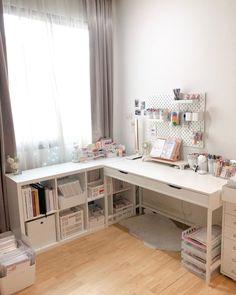 Study Room Decor, Room Ideas Bedroom, Small Room Bedroom, Bedroom Decor, Small Rooms, Trendy Bedroom, Girls Bedroom, Study Rooms, Teen Study Room