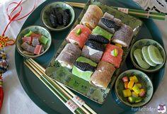Sushi aus Süßigkeiten selber machen - für Marina