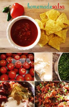 a super easy homemade salsa recipe that uses fresh ingredients from your garden (or grocery store, if you don't have a garden) and is perfect for canning and storing salsa for the winter months, or eating right away! | www.livecrafteat.com #salsa #recipes
