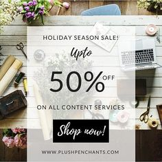 This HOLIDAY SEASON, Plush Penchants has good offers to share with you! Hesitate no further, If you are looking for the best content services online! Grab this sale before it ends! We have more crazy stuff coming up on our portal! Stay tuned. The link to buy these offers are in the bio! DM if you are from India! .
