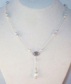 Swarovski Pearl & Crystal Bridal Jewelry Set  by kippyskreations