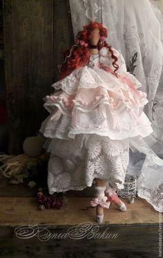 Купить Джейн. Коллекционная кукла - бледно-розовый, тильда, кукла ручной работы, кукла