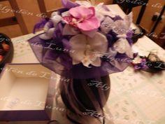 Ramos con flores de tela y mariposas y piedras semipreciosas de Algodón de Luna.Ramos  de flores de tela personalizados para novias.   Hand made bridal, wedding bouquet.  informacion@algodondeluna.com         +34606619349  www.algodondeluna.com