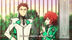 the irregular at magic high school (I really hope that these two become a couple!)