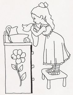 Girl Washing at Washstand by jeninemd, via Flickr