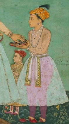 Young Prince Dara Shikoh (front) and Prince Murad Bakhsh (background)
