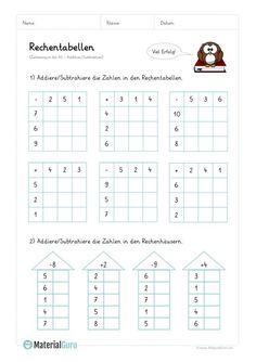 NEW: A free math worksheet on Primary School Calculation Worksheets that teaches children how to perform additions and subtractions English Worksheets For Kids, Free Math Worksheets, Kindergarten Math Worksheets, Learning Numbers Preschool, Teaching Kids, Opposites Worksheet, Homework Club, Math Charts, Math For Kids