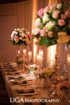 Estate Table Beauty ... Wedding Planner: Lisa Stoner/ E Events Floral: Botanica International Design Studio Linen: La Tavola Photography: Abby Liga/ Liga Photography
