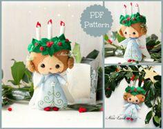 Patrón PDF. Hadas de Holly y Robin de Navidad por Noialand en Etsy