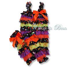 Halloween Petti Romper for Baby Girls by WillowandBean on Etsy