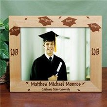 Personalized 10 x 8 Dream Wood Graduation Picture Frames