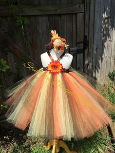 Beautiful Autumn Tutu Dress Thanksgiving by SouthernDreamMakers