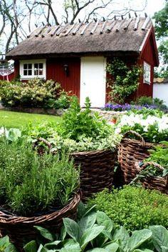 Best Cottage Garden Ideas To Get Unique Look Dream Garden, Home And Garden, Scandinavian Garden, Southern Cottage, French Cottage, Unique Cottages, Cottage Garden Design, Cottage Gardens, Red Houses