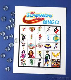 Dc Superhero girls party games - Free Bingo game great for parties!