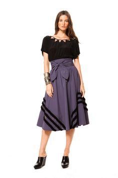 Vena Cava - Sophie and Lisa are stepping it UP with this skirt! Love the VC historic neckline