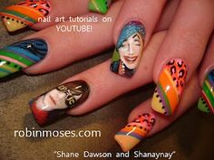 shane dawson and shanaynay nail art with rainbow design nails  www.youtube.com/watch?v=rE3ugR2SDRg