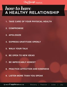 How to have a happy healthy relationship #relationships #lovequotes #infographic www.amplifyhappinessnow.com