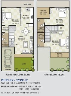 16 X 50 House Plans Unique House Small Plans Stairs 16 Super Ideas In 2020 2bhk House Plan, House Layout Plans, Dream House Plans, House Layouts, Small House Plans, Plan Duplex, Duplex Floor Plans, House Floor Plans, Bungalow House Design