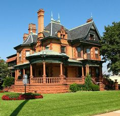 Old pink victorian homes
