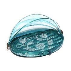 Cesta para Pão com Tule Oval Azul FLAT G - Presentes criativos, diferentes e originais - Monky Design